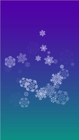 Illustration pour Vector Falling Snowflakes on a Blue Background - image libre de droit