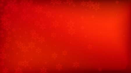Illustration pour Beautiful Red Christmas Background with Falling Snowflakes. Vector Falling Snowflakes on a Red Background. Element of Design with Snow for a Postcard, Invitation Card, Banner, Flyer. - image libre de droit