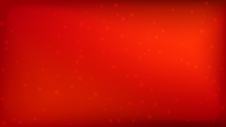 Illustration pour Snowflakes Red Christmas Background. Vector Falling Snowflakes on a Red Background. - image libre de droit