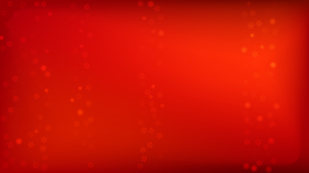 Illustration pour Beautiful Red Christmas Background with Falling Snowflakes. Element of Design with Snow for a Postcard, Invitation Card, Banner, Flyer. Vector Falling Snowflakes on a Red Background. - image libre de droit