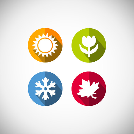 Illustration pour Four seasons icon symbol vector illustration  Weather - image libre de droit