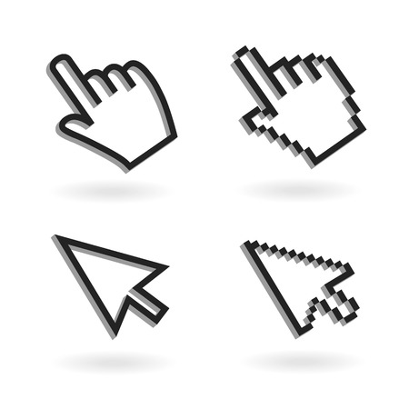 Illustration pour Hand mouse icon pointer. Finger click icon - image libre de droit