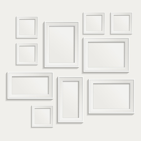 Illustration for Modern realistic frame on a white background - Royalty Free Image