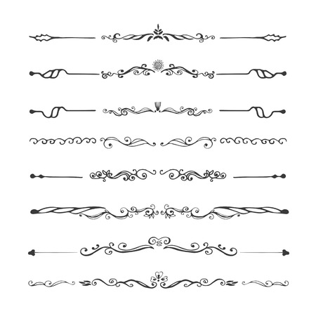 Illustration pour Vintage dividers  and ornaments, calligraphic design elements and page decoration. - image libre de droit