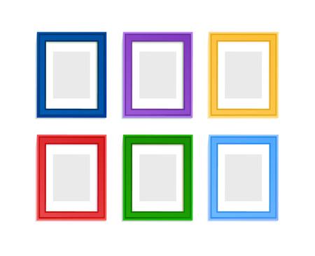 Illustration pour Multi colored photo frames for children picture composed in composition. - image libre de droit