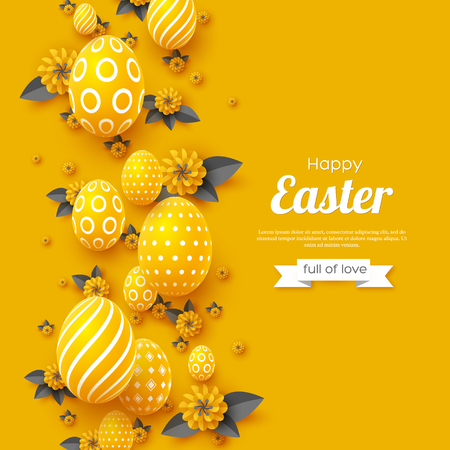 Illustration for Easter holiday greeting card. - Royalty Free Image