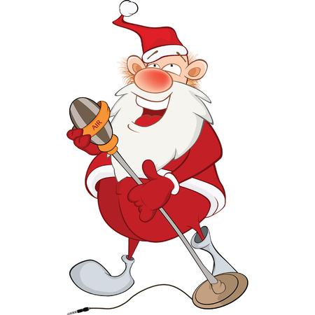 Cute Santa Claus Singer