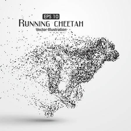 Ilustración de Particle cheetah, illustration. - Imagen libre de derechos