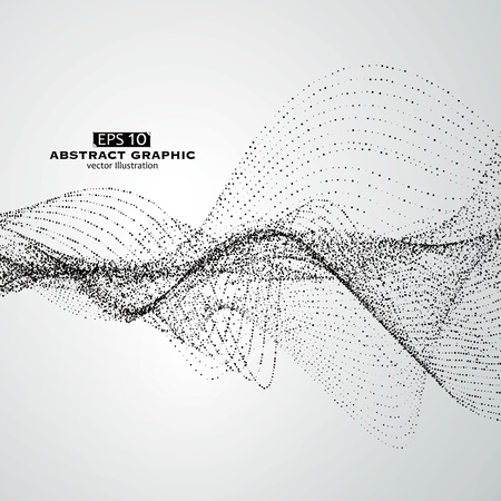 Illustration pour Dot pattern composed of mesh,Technological sense of abstract graphics. - image libre de droit