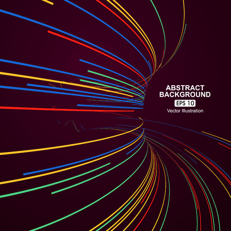 Ilustración de Colourful curve lines abstract background - Imagen libre de derechos