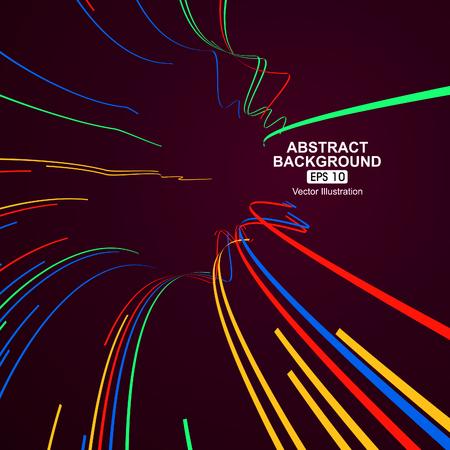 Ilustración de Colourful curve lines abstract background - Imagen libre de derechos