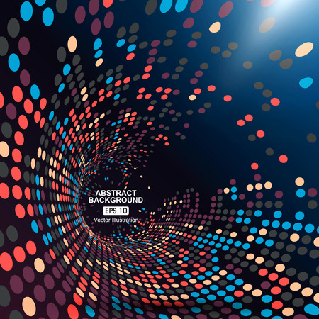 Illustration pour Consisting of colorful little, radial graphics, abstract background. - image libre de droit