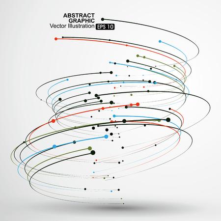 Ilustración de Point and curve consisting of abstract graphic,Vector Illustration. - Imagen libre de derechos