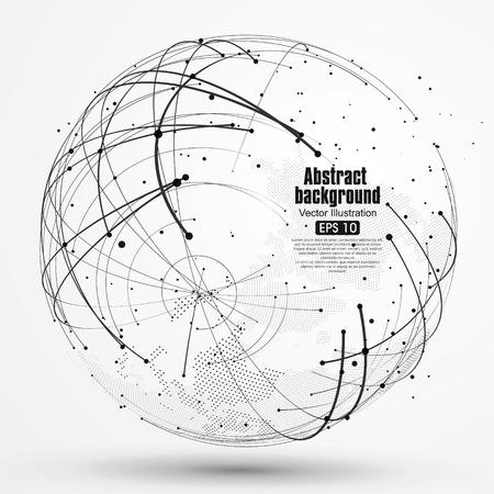 Ilustración de Point and curve constructed the technological sense abstract illustration. - Imagen libre de derechos