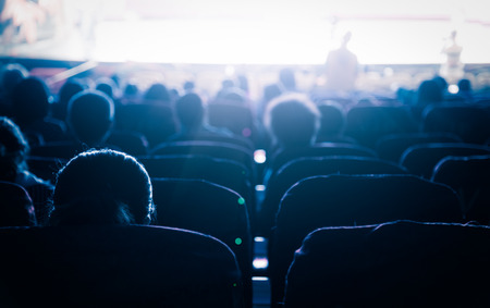 Photo for Cinema or theater in the auditorium,business background. - Royalty Free Image