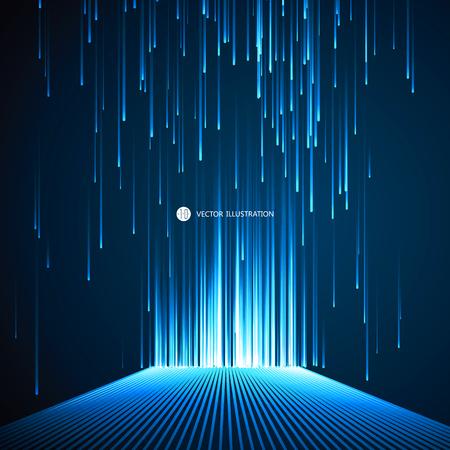 Ilustración de Lines composed of a sense of science and technology background. - Imagen libre de derechos