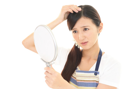 The unhappy woman in hair care