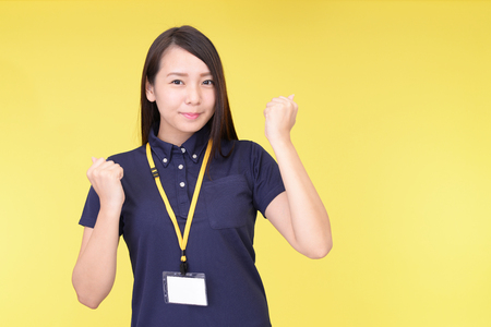 Photo for Smiling female worker - Royalty Free Image