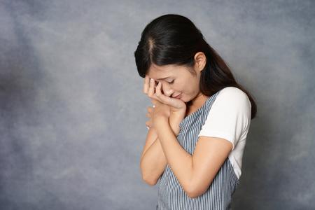 Woman in depression