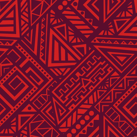 Illustration for Creative Ethnic Style Square Seamless Pattern. Unique geometric vector swatch. Perfect for site backdrop, wrapping paper, wallpaper, textile and surface design. Trendy boho tile. - Royalty Free Image
