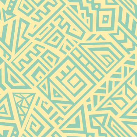 Illustration pour Seamless Vector Texture in Ethnic Style. Geometric endless ornament perfect for fabric, textile, t-shirt, business card and greeting card design. - image libre de droit