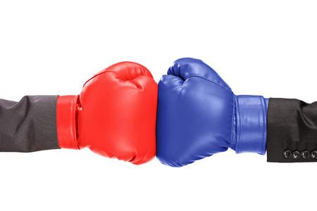 Foto de Two boxing gloves isolated on white background - Imagen libre de derechos