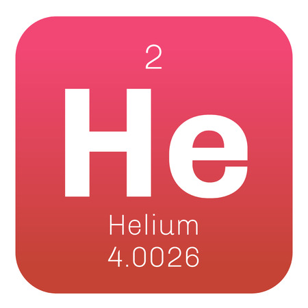 Illustration pour Helium chemical element. Helium is a colorless, odorless, tasteless, non-toxic gas, belongs to the noble gas group of the periodic table. - image libre de droit
