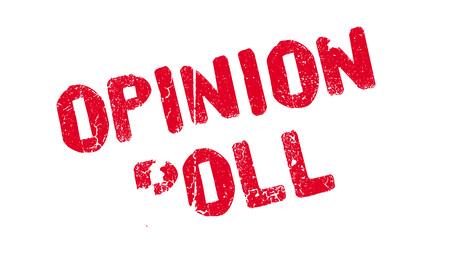 Illustration pour Opinion Poll rubber stamp - image libre de droit