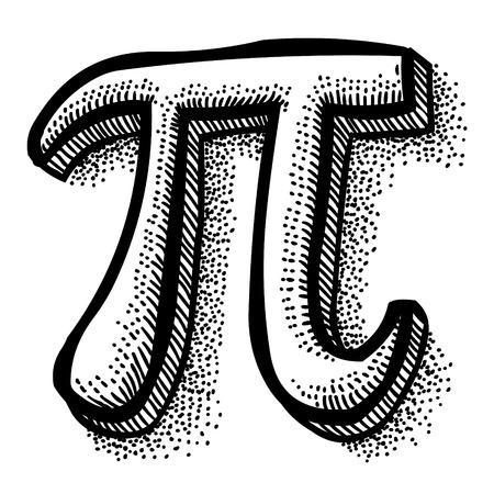 Ilustración de Cartoon image of Pi symbol - Imagen libre de derechos