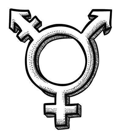 Illustration pour Cartoon image of Transgender Icon. Gender symbol - image libre de droit
