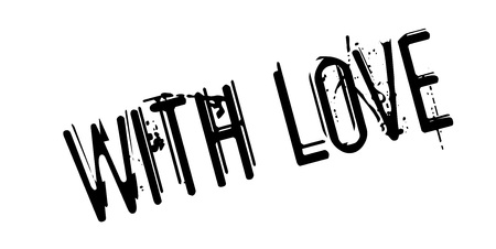 Photo for With Love rubber stamp - Royalty Free Image