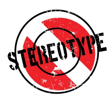 Illustration pour Stereotype rubber stamp - image libre de droit
