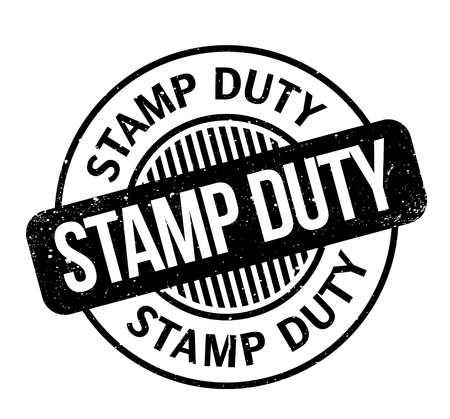 Illustration pour Stamp Duty rubber stamp - image libre de droit