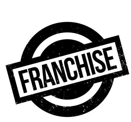 Illustration pour Franchise rubber stamp. Grunge design with dust scratches. Effects can be easily removed for a clean, crisp look. Color is easily changed. - image libre de droit