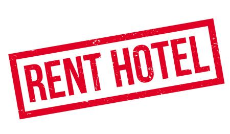 Illustration pour Rent Hotel rubber stamp. Grunge design with dust scratches. - image libre de droit