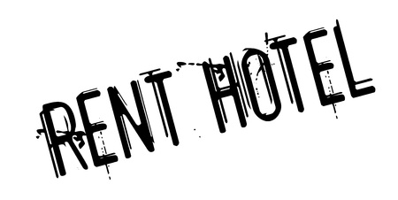Illustration pour Rent Hotel rubber stamp. Grunge design with dust scratches. Effects can be easily removed for a clean, crisp look. Color is easily changed. - image libre de droit