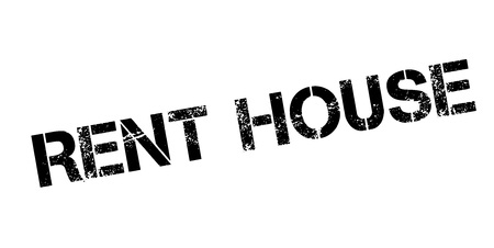 Illustration pour Rent House rubber stamp. Grunge design with dust scratches. Effects can be easily removed for a clean, crisp look. Color is easily changed. - image libre de droit