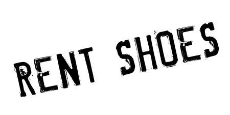 Illustration pour Rent Shoes rubber stamp. Grunge design with dust scratches. - image libre de droit