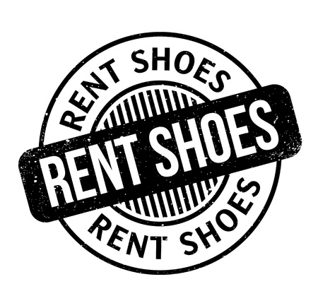 Illustration pour Rent Shoes rubber stamp. Grunge design with dust scratches. Effects can be easily removed for a clean, crisp look. Color is easily changed. - image libre de droit