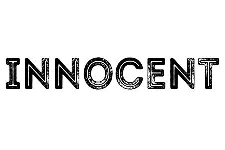 Ilustración de Innocenttypographic stamp. Typographic sign, badge or icon - Imagen libre de derechos
