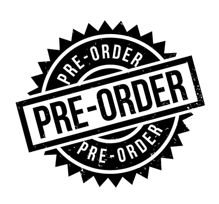 Illustration pour Pre-Order rubber stamp. Grunge design with dust scratches. Effects can be easily removed for a clean, crisp look. Color is easily changed. - image libre de droit