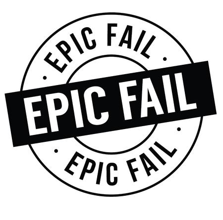 Ilustración de epic fail stamp on white background . Sign, label, sticker - Imagen libre de derechos
