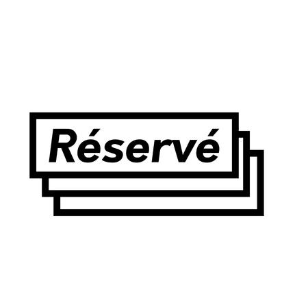 Ilustración de reserved black stamp in french language. Sign, label, sticker - Imagen libre de derechos