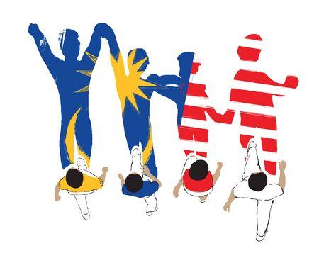 Photo pour Walk with Malaysian - image libre de droit