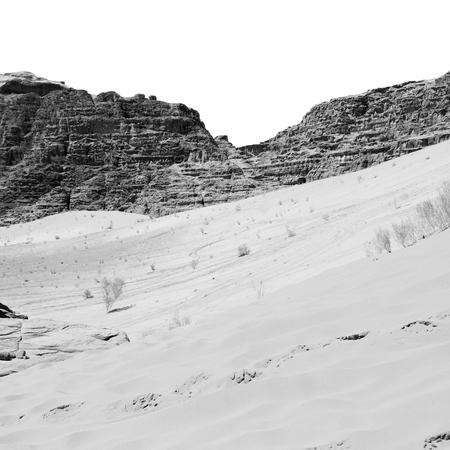 in the wadi rum desert of jordan  sand and mountain  adventure destination
