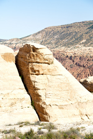 in jordan the scenic valley of dana natural  reserve for walking