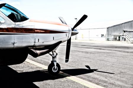 Foto de in crains austalia little popular  plane parking in the airport - Imagen libre de derechos