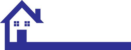 Ilustración de Blue House Logo - Imagen libre de derechos
