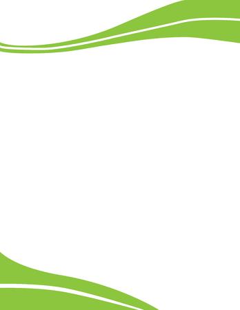 Illustration pour Wave Letterhead Template Green - image libre de droit