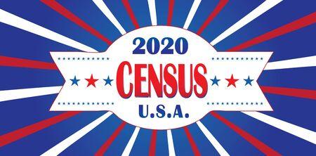 Ilustración de 2020 Census USA - Imagen libre de derechos